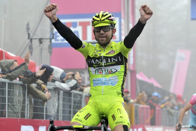 Le cycliste italien Mauro Santambrogio.... (Photo Gian Mattia D'Alberto, AP)