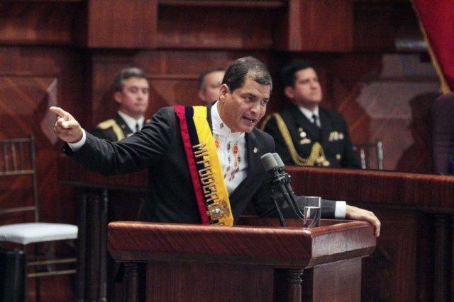 En avril 2012, le président équatorien, Rafael Correa,... (PHOTO REUTERS)