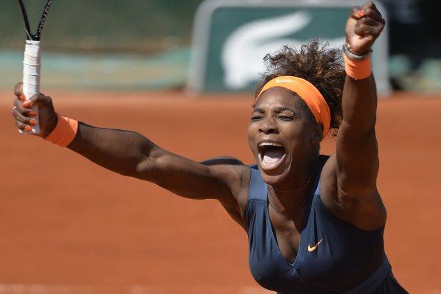 Serena Williams a dû livrer une féroce bataille... (Photo Miguel Medina, AFP)