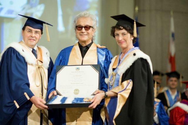 Guy Breton, Luc Plamondon et Louise Roy, chancelière...