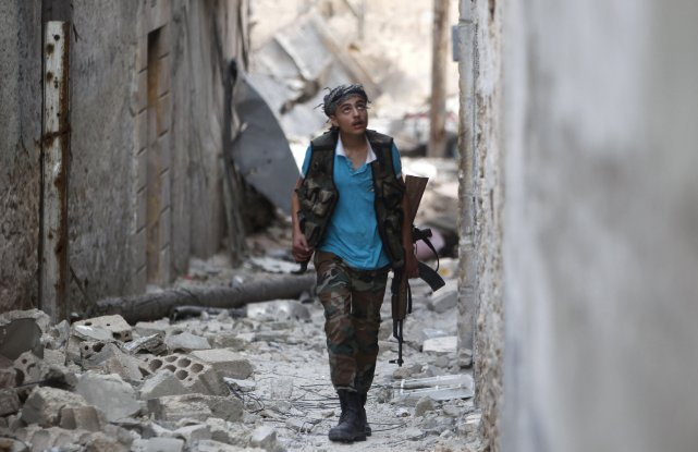 Le régime syrien et son puissant allié, le Hezbollah libanais, ont pris le... (Photo Muzaffar Salman, archives Reuters)
