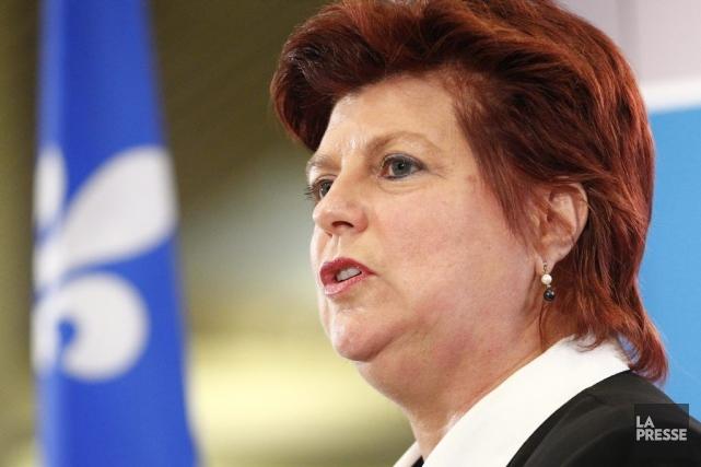 La ministre de la Famille,Nicole Léger.... (Photo La Voix de l'est)