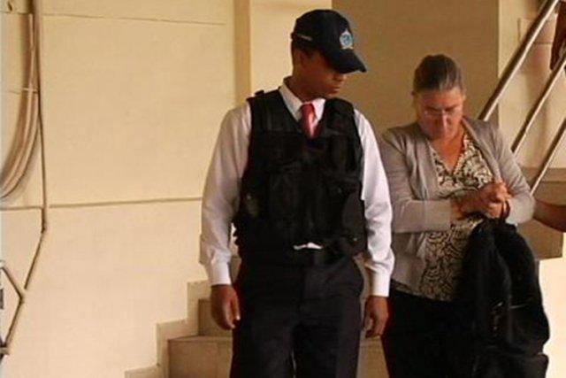 Pamela Mattock a été arrêtée mardi dernier au... (Courtoisie Police nationale de Panama)
