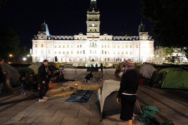 Une trentaine de manifestantes ont participé à l'événement,... (Photo Erick Labbe, Le Soleil)