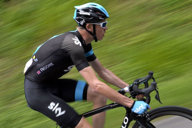Chris Froome... (Photo Jeff Pachoud, AFP)