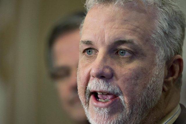 Le chef du Parti libéral du Québec, Philippe... (Photo Jacques Boissinot, La Presse Canadienne)