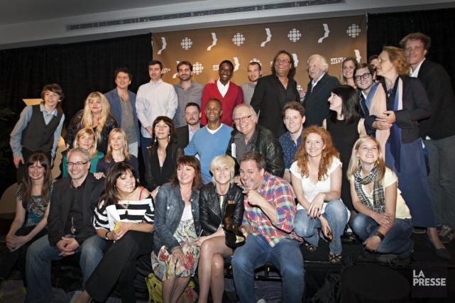 Une partie des finalistes du 28e gala des... (Photo Anne Gauthier, La Presse)