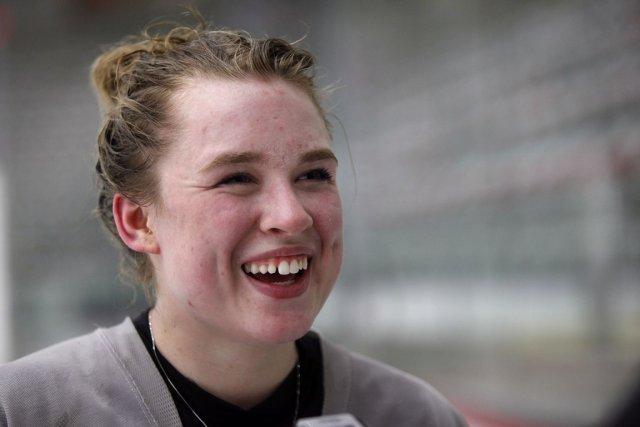 Taylor Crosby, âgée de 17 ans, est l'une... (Photo : Jeff McIntosh, PC)