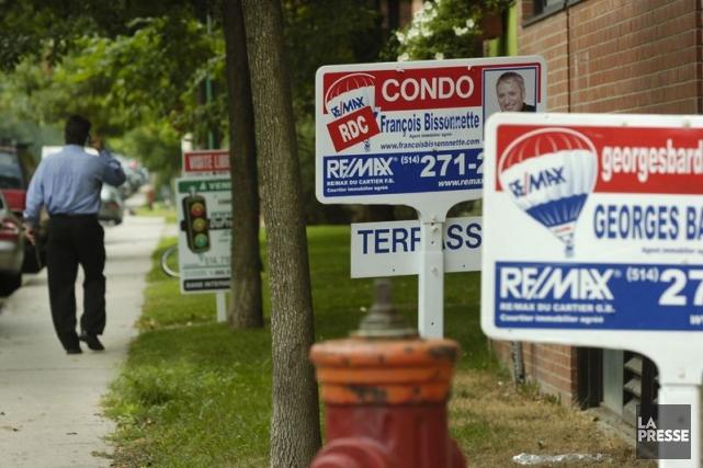 Fitch Ratings affirme que le marché immobilier canadien est surévalué de... (Photo David Boily, Archives La Presse)