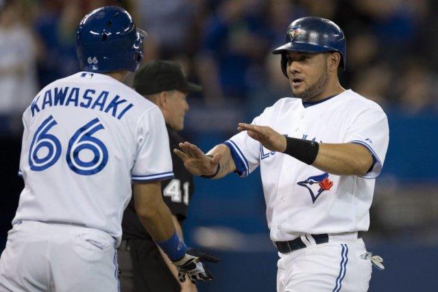 Melky Cabrera des Blues Jays de Toronto est... (PHOTO FRANK GUNN, LA PRESSE CANADIENNE)