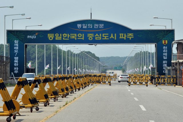 Les échanges entre les Corées, dimanche, pourraient représenter... (Photo : Jung Yeon-JE, AFP)