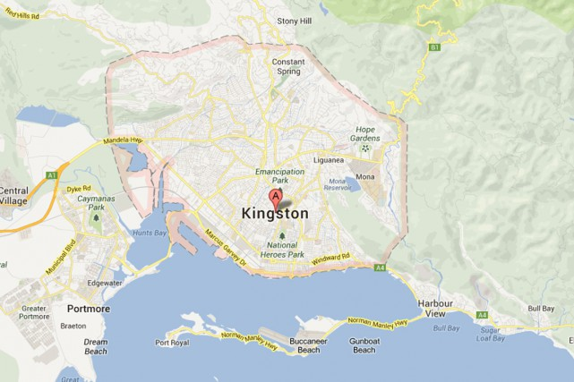 Kingston, en Jamaïque.... (IMAGE GOOGLE MAPS)