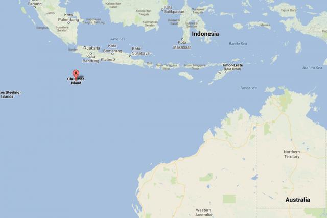 L'île Christmas, un territoire australien.... (Photo tirée de maps.google.com)