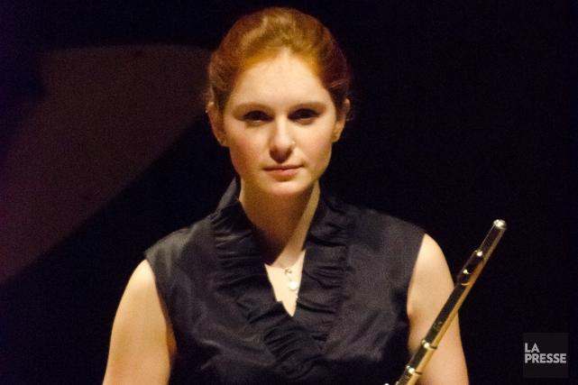 La lauréateAriane Brisson, âgée de 22 ans, joue... (Photo : Raymond Gagnon)