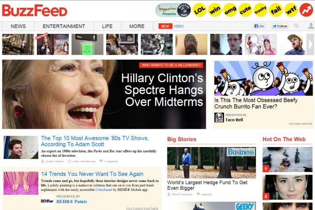 BuzzFeed, qui mélange des actualités sérieuses et d'autres...