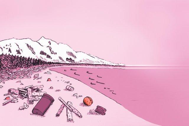 Deux ans après le tsunami du 11 mars 2011 au Japon, l'océan n'a pas fini de... (Illustration : Judith Lachapelle, La Presse)