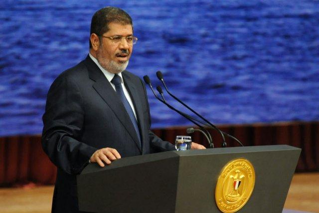 Le président Mohamed Morsi a martelé lundi soir... (PHOTO AFP)