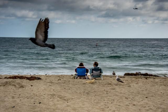Une plage de Californie aux États-Unis.... (Photo AFP)