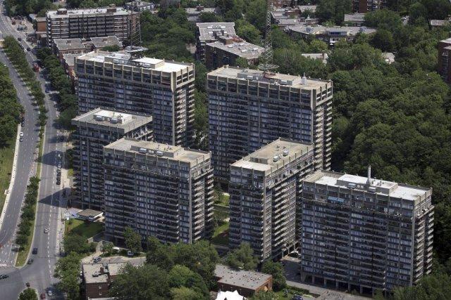 La photo du complexe Rockhill, dans Côte-des-Neiges.... (Photo fournie par Ivanhoé Cambridge)