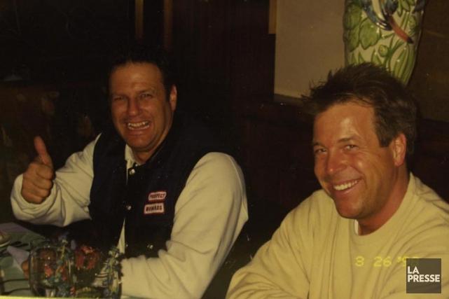 André Chouinard (à gauche) dans une photo datant... (ARCHIVES LA PRESSE)