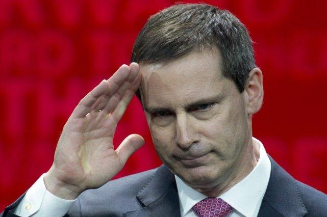 Dalton McGuinty lors de sa démission comme premier... (Photo La Presse Canadienne)