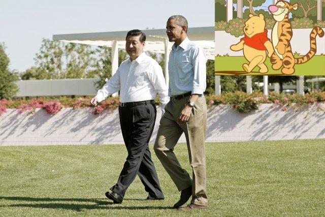 Le président Xi Jinping est comparé à Winnie... (PHOTO KEVIN LAMARQUE, REUTERS)