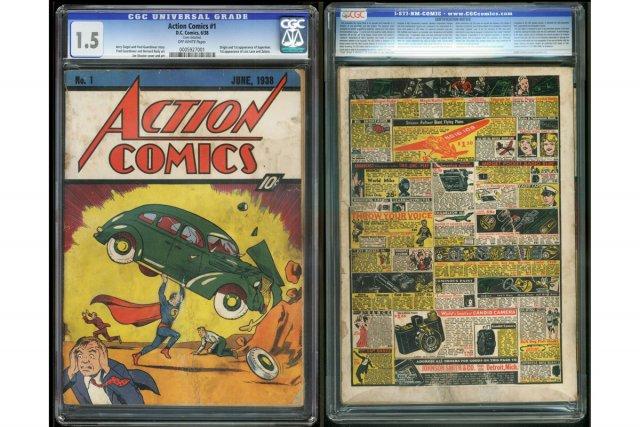 Un rare exemplaire de la bande dessinée comportant la première apparition de... (Photo: AP)