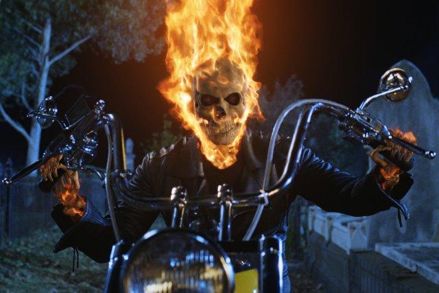 Une scène du film Ghost Rider mettant en... (Photo: fournie par Sony Pictures)