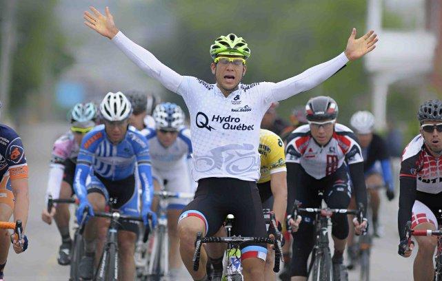 Guillaume Boivin a enfilé le maillot jaune du... (Photo: Tour de Beauce)