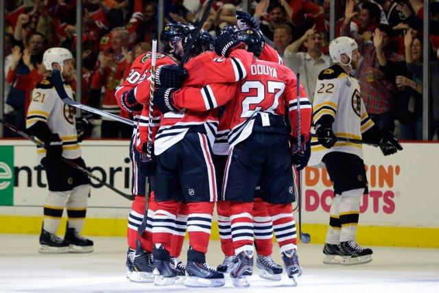 Les Blackhawks de Chicago.... (Photo Nam Y. Huh, AP)