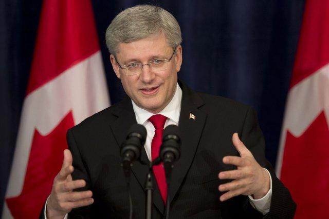Le premier ministre Stephen Harper a profité de la tribune qui lui a été... (PHOTO Adrian Wyld, PC)
