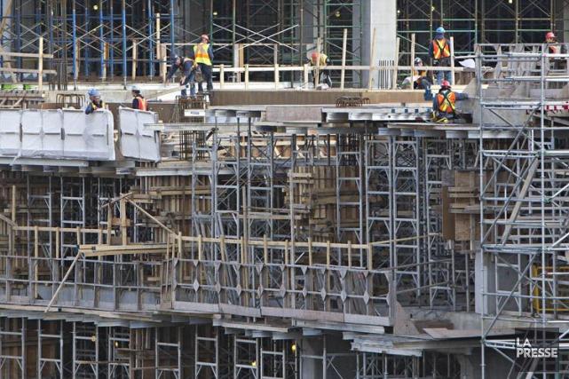 La grève dans l'industrie de la construction, à... (Photo Patrick Sanfaçon, Archives La Presse)