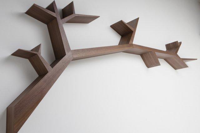 La bibliothèque Tree Branche de l'artisan designer Olivier... (Photo fournie par Inhoma Design)