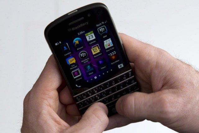 BlackBerry (T.BB)a vu ses actions augmenter de près de six... (Photo Graeme Roy, PC)