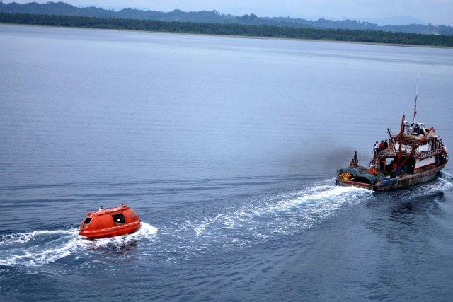 Le ferry transportait 57 personnes.... (PHOTO ARCHIVES AP)