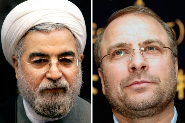 Hassan Rohani (à gauche) et Mohammad Bagher Ghalibaf.... (PHOTOS: REUTERS/AP)