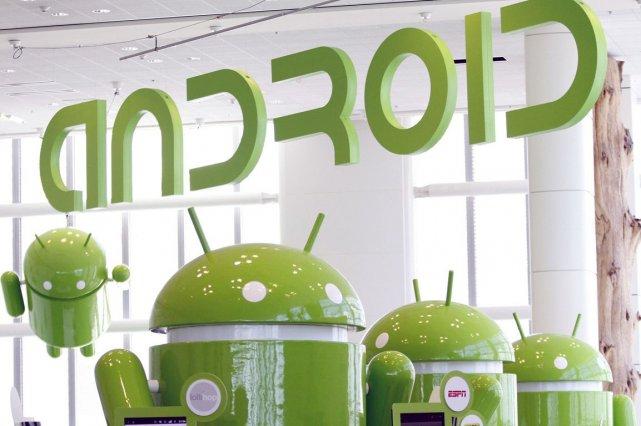 Android a terminé 2013 comme principale plateforme mobile... (Photo Archives Reuters)