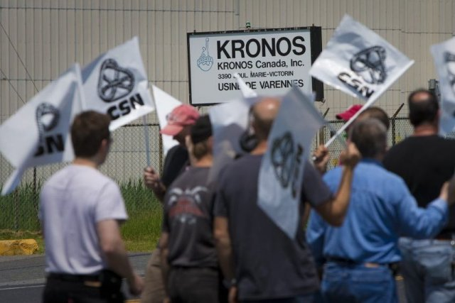 Kronos Canada a fermé son usine jeudi soir,... (Photo André Pichette, La Presse)