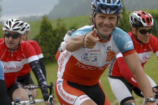 Pierre Lavoie entraîne206 équipes avec lui dans le... (Photo Michel Tremblay, Le Quotidien)