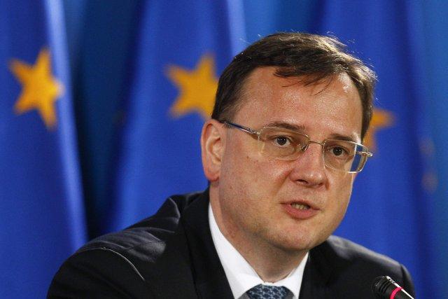 Le Premier ministre tchèque Petr Necas....