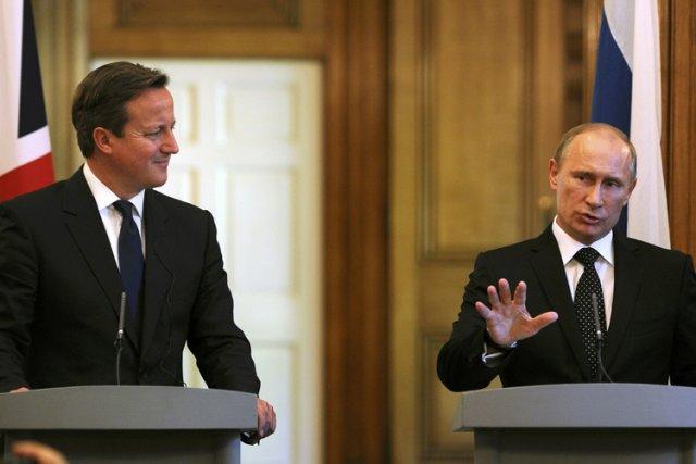 Vladimir Poutine a rencontré dimancheà Londres le Premier... (Photo: Reuters)