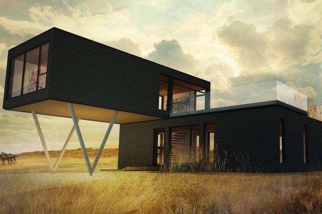 La maisonPur-Zestunerésidence contemporaine en forme deZde 1800 pi2... (Image fournie par les Industries Bonneville)