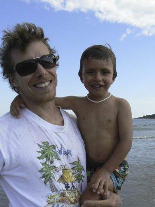 Bruno Sarra-Bournet et son fils Alexi....