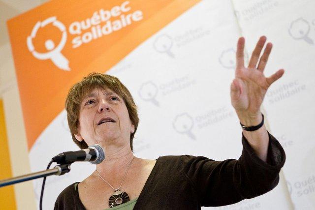 Françoise David, députée et porte-parole parlementaire de Québec... (PHOTO EDOUARD PLANTE-FRÉCHETTE, LA PRESSE)