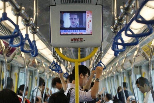 Une entrevue de Edward Snowden, la «taupe» de... (Photo: AP)