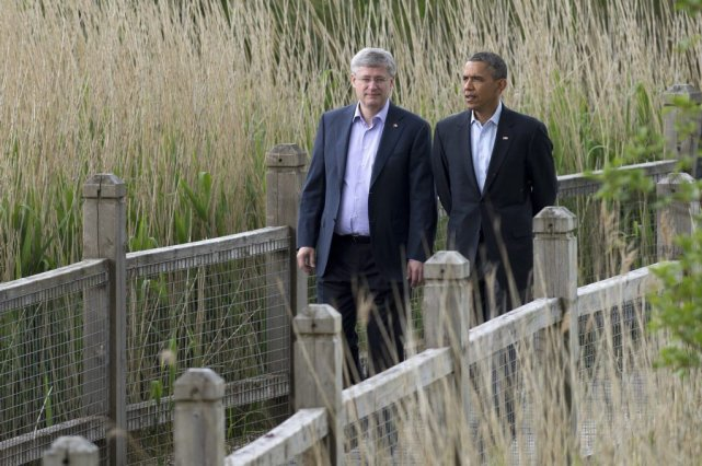 Stephen Harper et Barack Obama.... (Photo La Presse Canadienne)