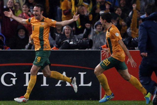 L'Australie s'est qualifiée pour la Coupe du monde... (Photo David Gray, Reuters)