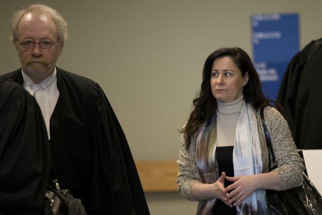 l'avocat de la défense Pierre Poupart en compagnie... (Photo: David Boily, La Presse)
