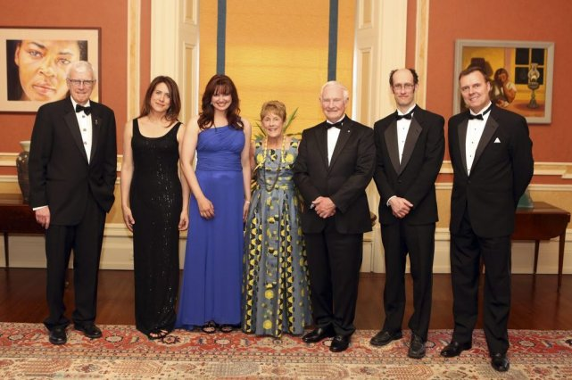Russel Mills,Marie-Claude Malboeuf, Isabelle Dubé, Sharon Johnston, David... (Photo La Presse Canadienne)