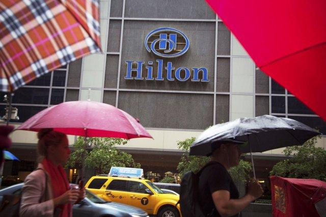 Avec près de 2000 chambres, le New York Hilton Midtown est le plus gros hôtel... (Photo Andrew Kelly, Reuters)